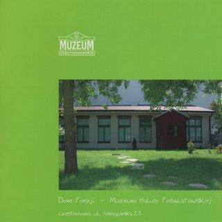 """Okładka katalogu """"Dom Poezji – Muzeum Haliny Poświatowskiej"""""""