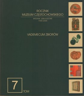 """Okładka periodyku """"Rocznik Muzeum Częstochowskiego"""" t. 7"""