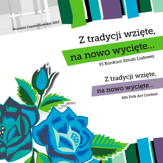 """Okładka katalogu """"Z tradycji wzięte, na nowo wycięte... VI Konkurs Sztuki Ludowej"""""""