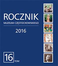 """Okładka periodyku """"Rocznik Muzeum Częstochowskiego"""" t. 16"""