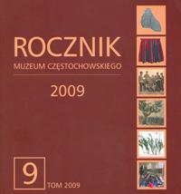 """Okładka periodyku """"Rocznik Muzeum Częstochowskiego"""" t. 9"""