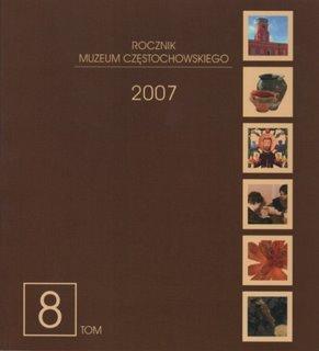"""Okładka periodyku """"Rocznik Muzeum Częstochowskiego"""" t. 8"""