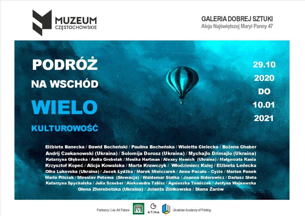 Baner do wystawy Podróż na Wschód - Wielokulturowość